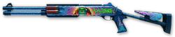 Benelli M4 Super 90 Evil Santa Render
