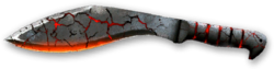 KA-BAR Kukri Machete Magma Render