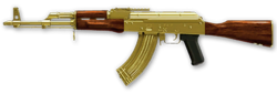 AK-47 Gold Render