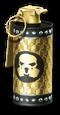 Smoke Grenade Gold Render