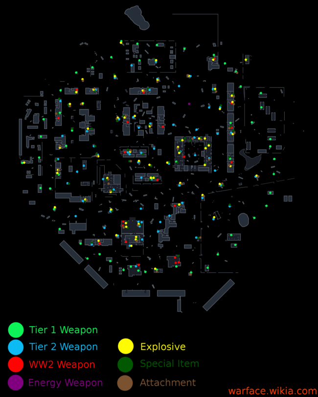 Pripyat Battle Royale Weapons Map