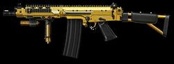 FN FAL DSA-58 Gold Render