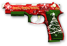 Christmas Beretta M9 Render