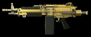 Золотой M249 Para Render