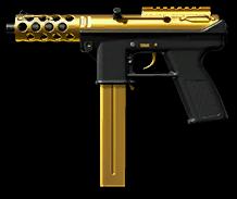 TEC-9 Gold Render