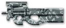 FN P90 Winter Camo Render