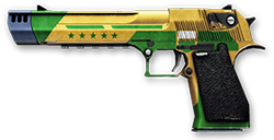 Desert Eagle Brazilian World Cup Render