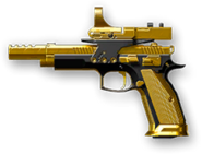 CZ 75 Czechmate Parrot Gold