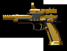 CZ 75 Czechmate Parrot Gold Render