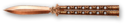 Balisong Knife Bronze Skin