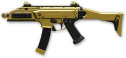 CZ Scorpion EVO 3 A1 Gold Render