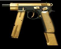 CZ 75-Auto Gold Render
