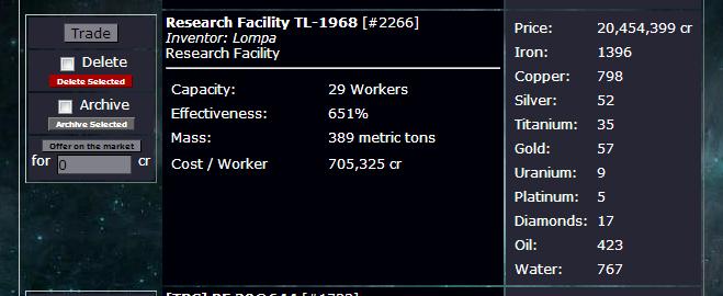 Facility rf