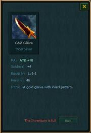 Gold Glaive