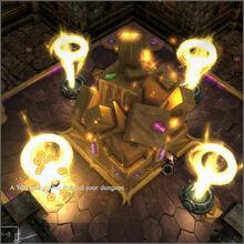 Gold vortex on shrine