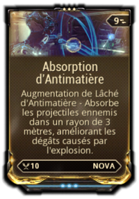 Absorption d'antimatiere