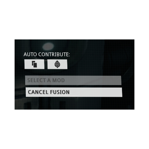 The Auto-Contribute Option. The button with the two overlapping rectangles is the Duplicates option, while the button with the Fusion Core icon is the Fusion Core option.