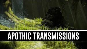 All Apothic Transmissions (The Silver Grove)