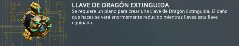 Llave dragón extinguida - reducción de daño