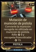Mutación de munición de pistola