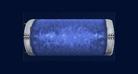 Azul cañón eléctrico