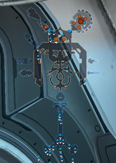 Карта Станции Тенно v2 (второй этаж)