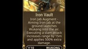 WARFRAME - Wukong Iron Vault Glaive