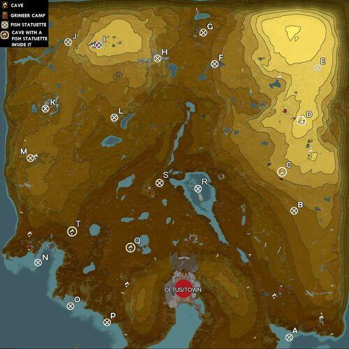 Thousand-Year Fish map