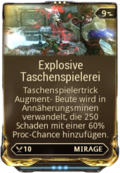 Mod Augment ExplosiveTaschenspielerei