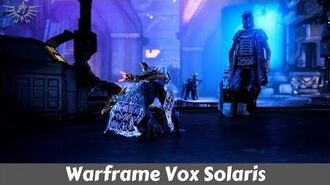 Warframe Fortuna Vox Solaris Quest