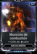 Munición de combustión