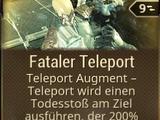 Fataler Teleport
