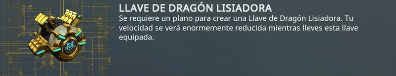Llave dragón lisiadora - reducción de velocidad de movimiento