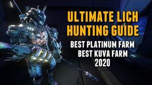 Warframe THE ULTIMATE KUVA LICH HUNTING GUIDE UPDATED