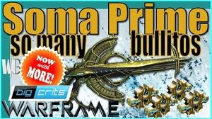 SOMA PRIME - Argon Scope Red Crits 4 forma - Warframe