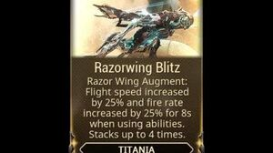 WARFRAME - Titania Razorwing Blitz Augment