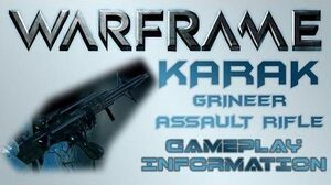 Warframe - Gameplay & Information Karak