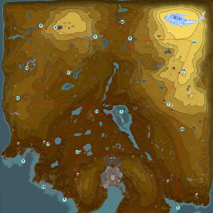Статуэтки рыбы карта