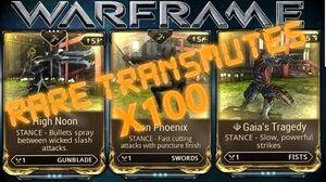 Warframe - Transmuting Rare Mods 100 Times