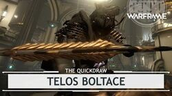 Warframe Telos Boltace, Crafted to Slide Right In - 3 Forma thequickdraw