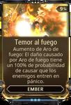 Temor al fuego