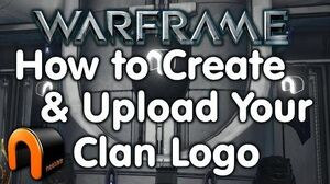 Warframe - How to Create & Upload a Clan Emblem