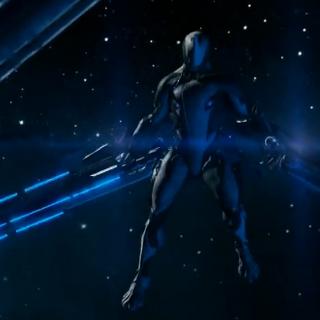 Frontowy widok Archwing wraz z nowym mieczem.
