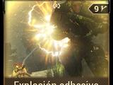 Explosión adhesiva