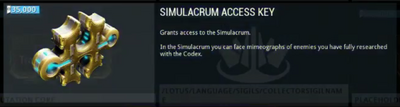 Simulacrum Access Key Placeholder