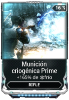 Munición criogénica Prime