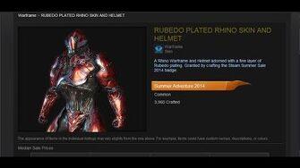 Warframe Rubedo Plated Rhino Skin