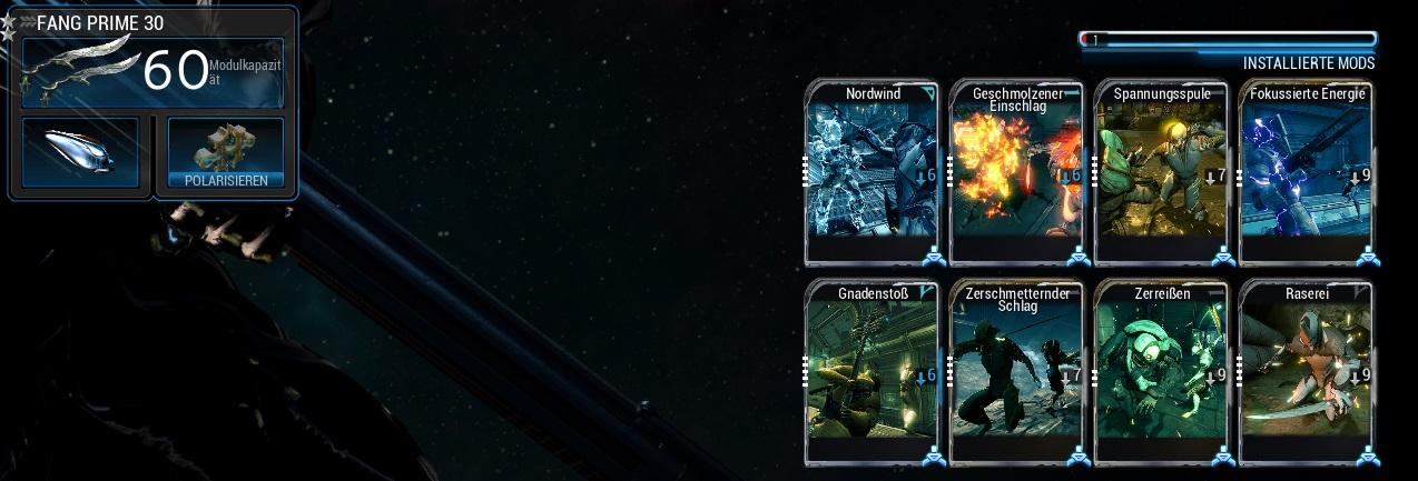 Warframe Build Fang Prime