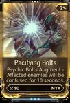 Pacifying Bolts