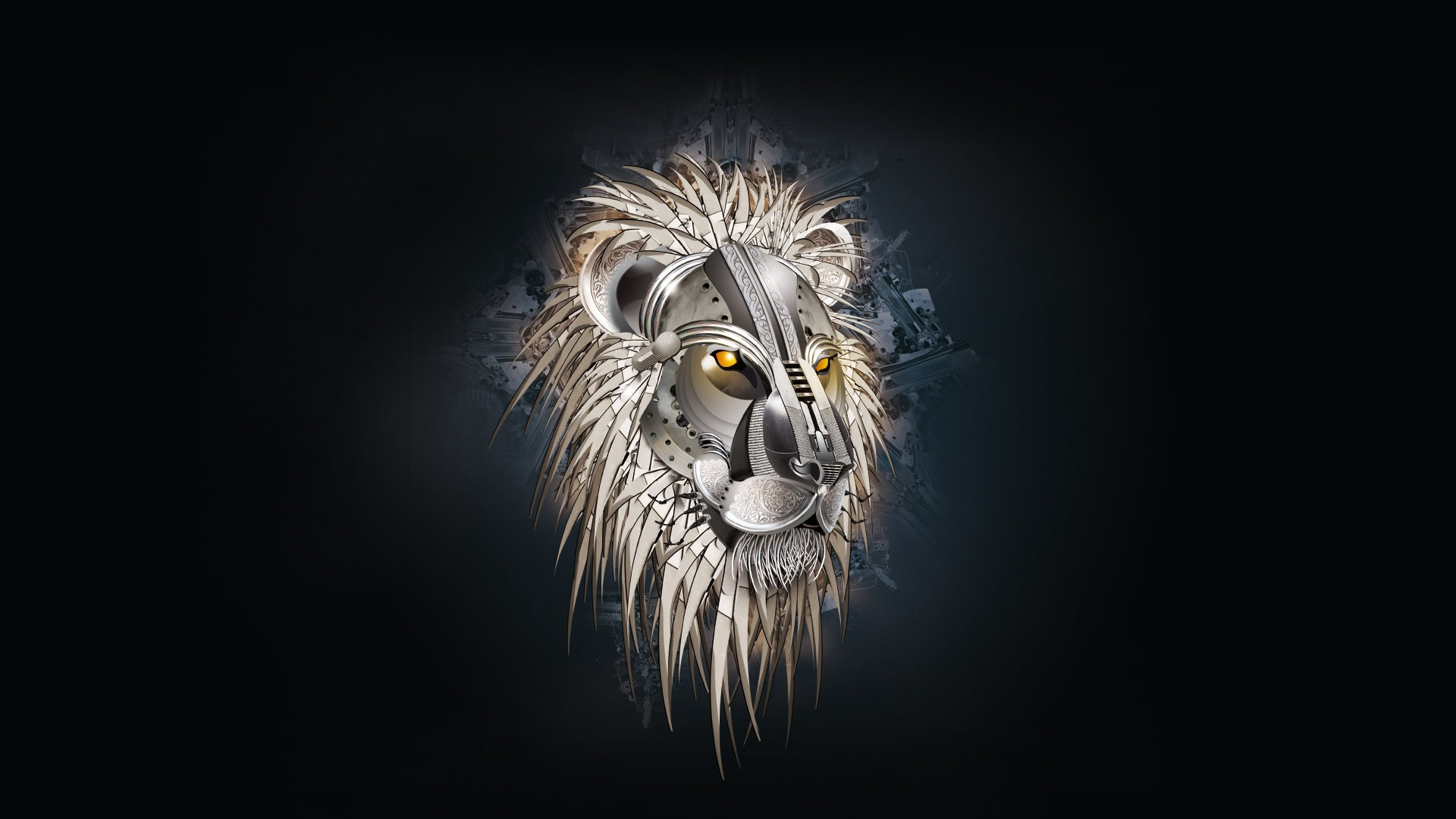 Lion Metallic Cool Creative Vector Clouds